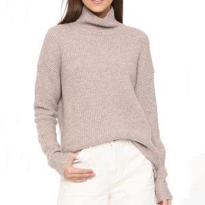 Madewell Turtleneck Knit Sweater Beige